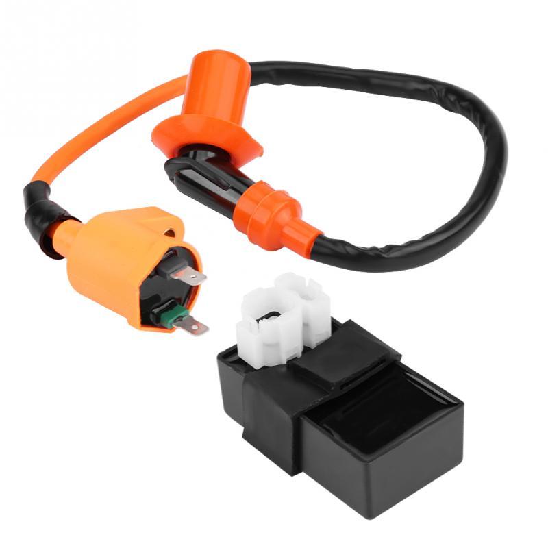HGY Kit Box 2 Pezzi Bobina accensione CDI DC for Kymco SYM Vento motorino GY6 Motore da 125 CC 150CC