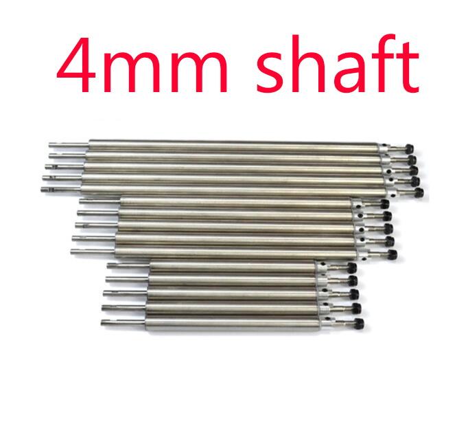 Free Shipping 4mm Stainless steel Transmission Shaft+shaft sleeve kit set spare parts for RC Boat Feeding boat free shipping 4mm rc boat shaft set stainless steel shaft universal coupling shaft sleeve tube 3 blades propeller spare parts