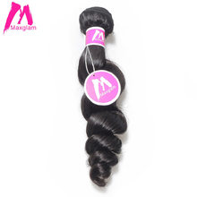 Maxglam Malaysian Virgin Hair Human Hair Bundles Loose Wave Hair Weave Bundles Extension Free Shipping(China)