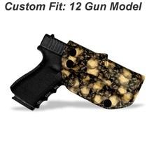 BBF Make Taro Totem IWB KYDEX Gun Holster For: Glock 19 17 23 25 26 27 28 31 32 43 P320 VP9 Inside Concealed Carry Pistol Case inside the waistband iwb kydex holster custom for glock 17 19 22 23 25 26 27 31 32 33 43 concealed 9 mm gun pistol case beltclip