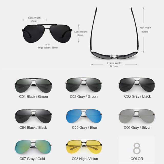 KINGSEVEN Polarized Pilot Sunglasses