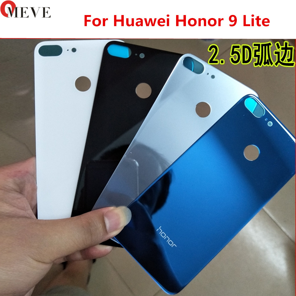 For Huawei Honor 9 Back Glass Battery Cover Rear Door Housing Case Panel For Huawei Honor 9 Lite Glass Cover Replacement