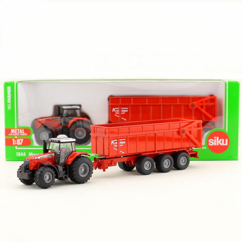 Free Shipping/Siku 1844 Toy/Diecast Metal Model/1:87 Scale/Massey FergusonTractor With Trailer/Educational Collection/Gift/Kid