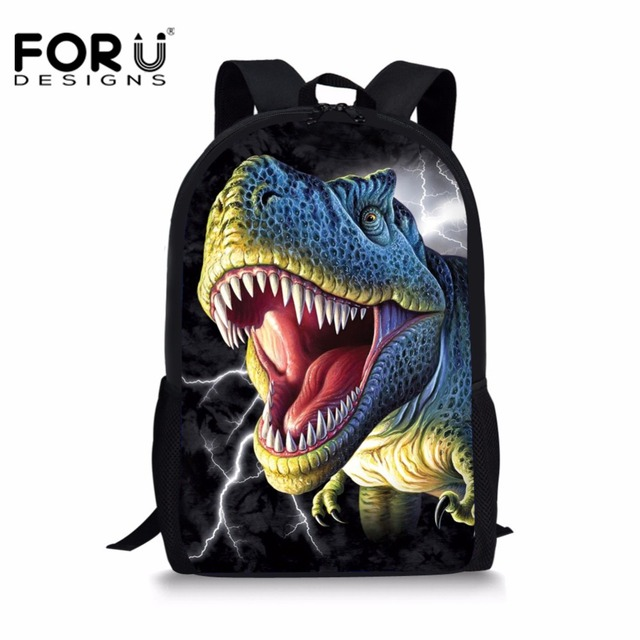 Forudesigns Jurassic World Kids School Bag Dinosaur Printing Ager S Boys Schoolbag Backpack Students Customized Book