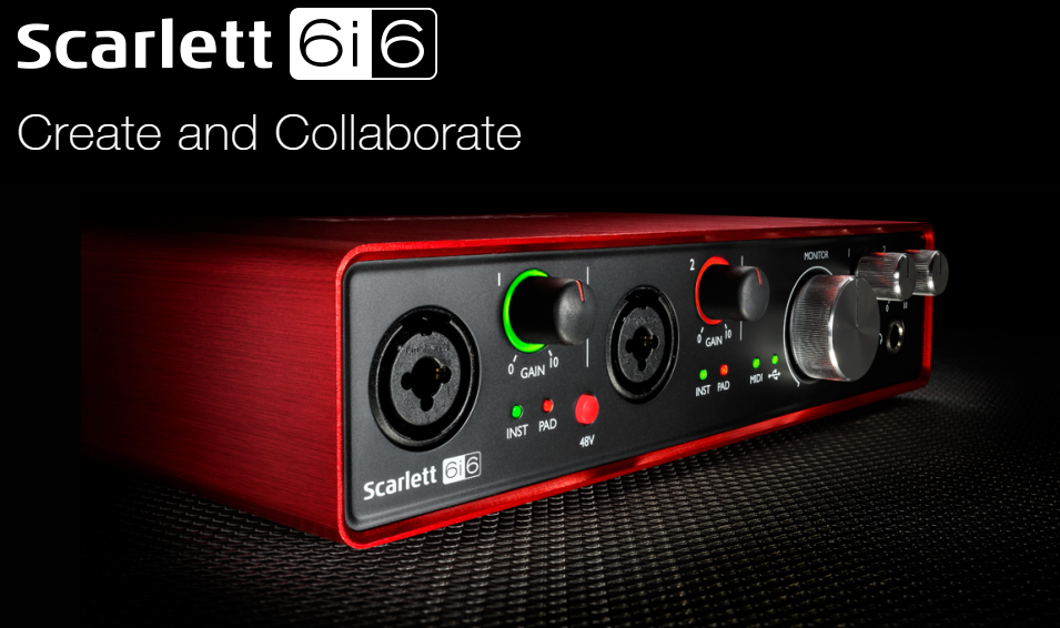 цена на Focusrite Scarlett 6i6II 6 In/6 Out USB 2.0 Audio Interface With Two Focusrite Mic Preamps professional sound card for recording