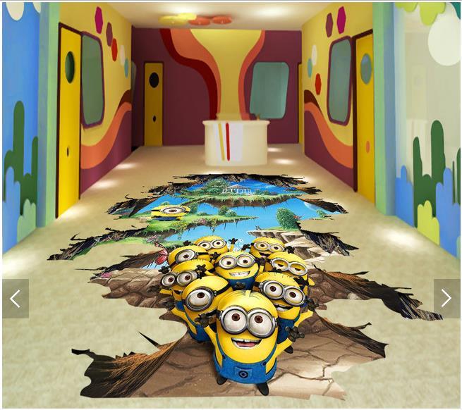 ФОТО 3d wallpaper custom 3d flooring painting wallpaper room murals The earth's crust chasmic flying island yellow 3 d floor wallpaer