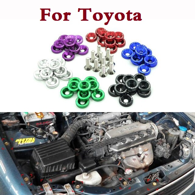 M6x20 Car Modification JDM Password Fender Washer Plate Bolts For Toyota Verossa Vios Vitz WiLL Cypha Windom Yaris Highlander