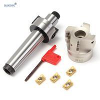 New Arrival MT3 FMB22 M12 Tool Holder Shank 50mm with Drawbar Face Endmill CNC Milling Cutter w/ 4pcs APMT1604 Carbide Inserts