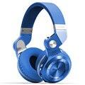 Orignal bluedio t2 + plegable sobre la oreja los auriculares bluetooth auriculares bt4.1 funciones de radio fm y tarjeta sd música y oem caja del teléfono