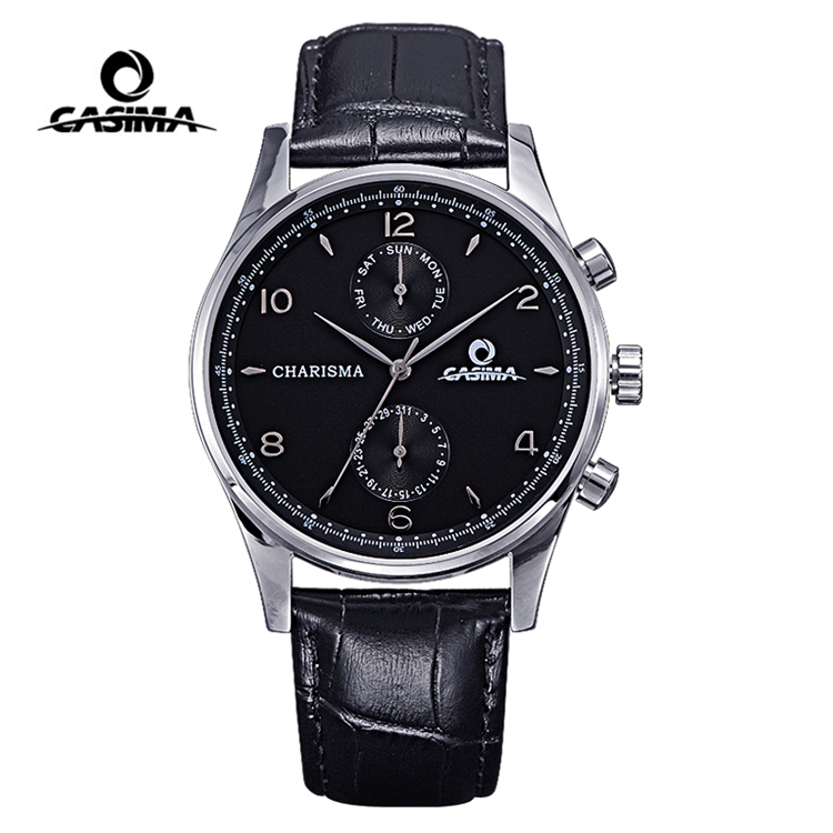 Relogio Masculino CASIMA Classic Quartz Watch Men Top Brand Luxury Waterproof Business Wrist Watch Mens Dress Clock Montre Homme montre homme casima sport watch men waterproof silicone band week date quartz wrist watch dual time clock saat relogio masculino