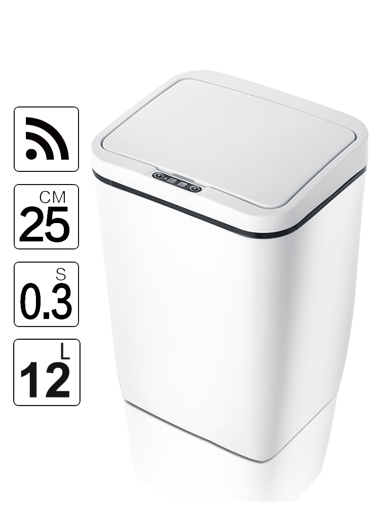 Trash-Cans Touchless Infrared-Motion-Sensor Bathroom Office Kitchen Automatic with Lid