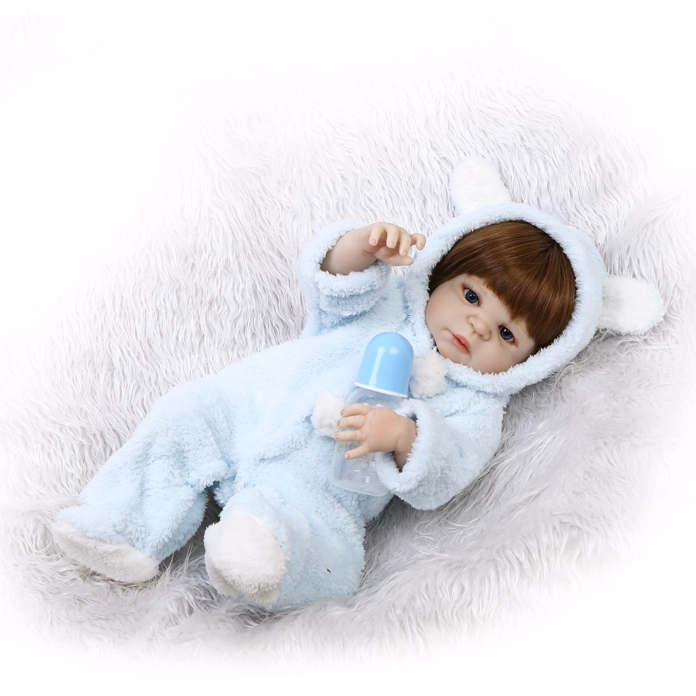 55cm Full Body Silicone Reborn Boy Baby Doll Toys 22inch Newborn Babies Doll Birthday Gift Bathe Toy Girl Bonecas Play House Toy full silicone body reborn baby doll toys lifelike 55cm newborn boy babies dolls for kids fashion birthday present bathe toy