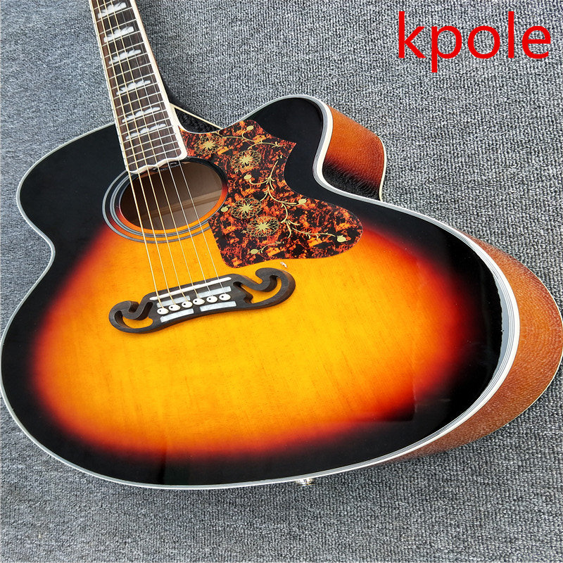 Factory launched a high-quality acoustic guitar J200 Jumbo size acoustic guitar acoustic electric guitar immediately shipping