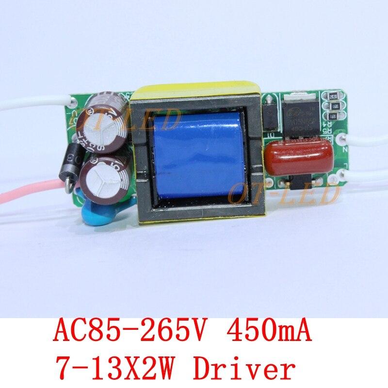 10pcs Constant Current Driver for 7-13pcs 2W High Power LED AC85-265V 450mA