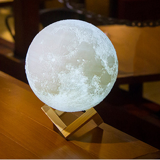 Night Light Led Wall 3D Print Moon Lamp ABS Material Switch Power  Generation Table Lamp Rechargeable