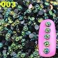 YZWLE 2017 Новое Прибытие Таинственный 4 мм 3D Блеск AB Круглая Форма Акриловые Стразы Для Украшения Искусства Ногтя Телефон Драгоценных Камней советы