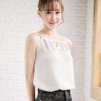 Pretty Big New Spring And Summer All Match Elan Thin Strapless Chiffon Vest Code Double Female