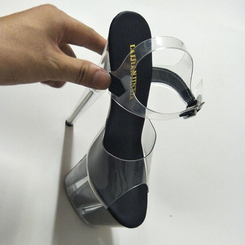 Stahlrohr e005 Absätzen Hohen Schuhe Toe Laijianjinxia Sexy Mit Lackleder Sandalen E085 High Plattform B Heels e085 Zeigt A Bühne Peep Frauen Zw4qwz