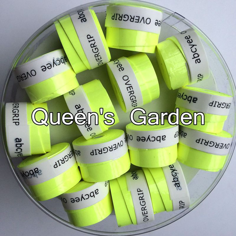 Bright Green 60 pcs Abcyee High quality amboss patternTennis Overgrip sticky feel Tennis Rackets Grips