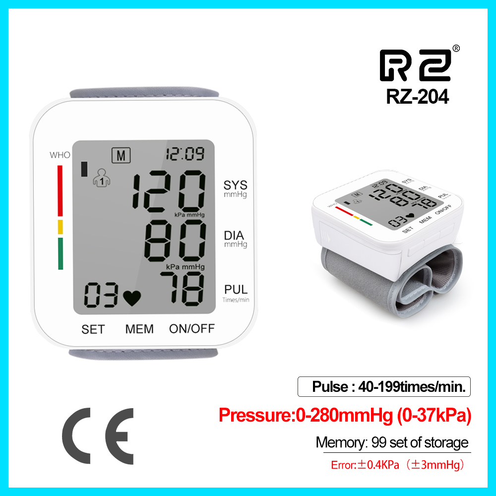 Jumper Automatic Digital Wrist Cuff Blood Pressure Monitor Heart Beat Light weight Large LCD Digital Wrist Watch RZ204