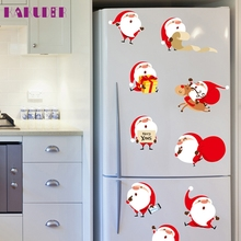 KAKUDER 2017 Christmas Santa Claus Removable Furniture Vinyl Window Wall Sticker Decoration  u61031 DROP SHIP