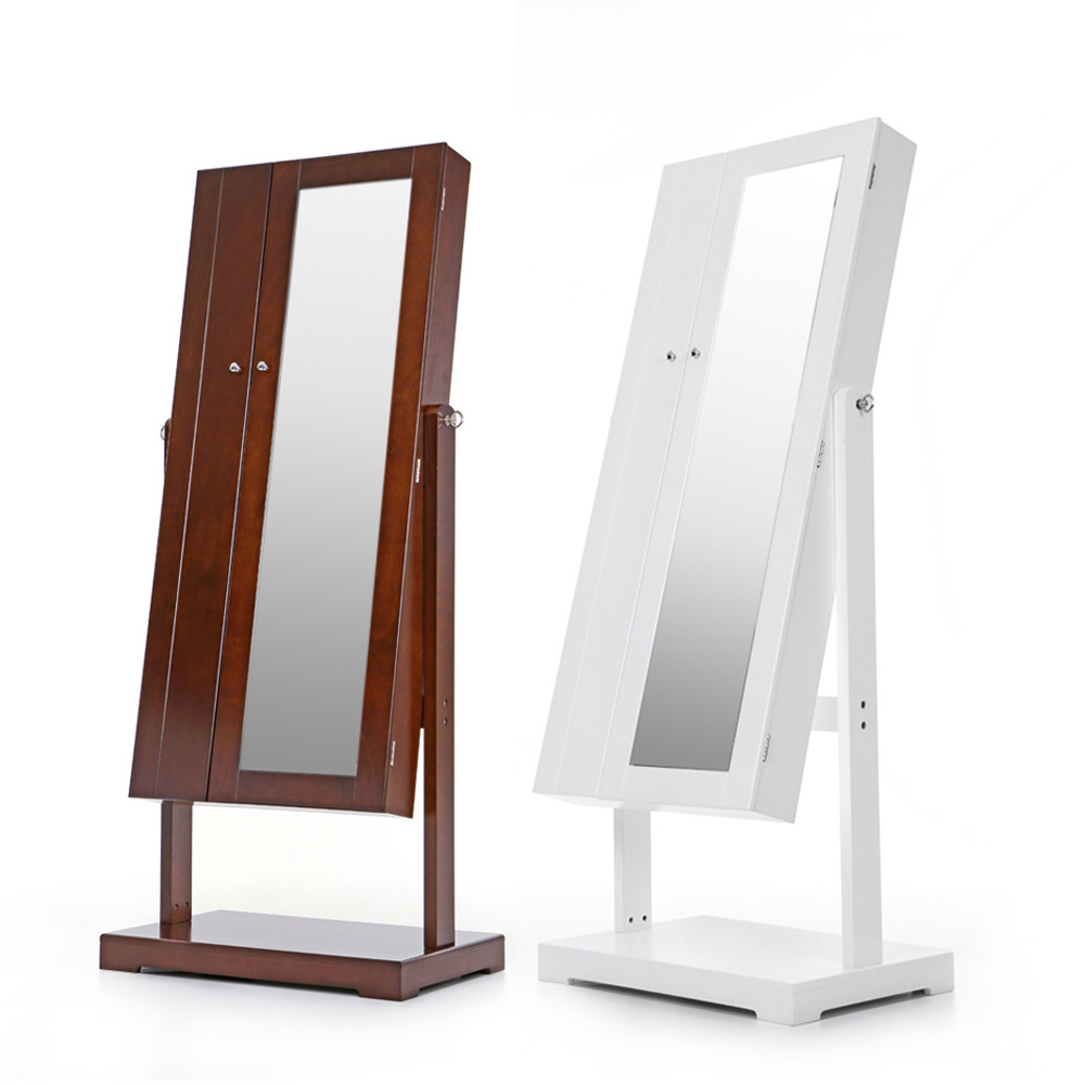 IKayaa FR Stock Fashion Standing Jewelry Cabinet Armoire Tilt Adjustable Storage  Box Organizer With Dressing Mirror Bins In Storage Boxes U0026 Bins From Home  ...