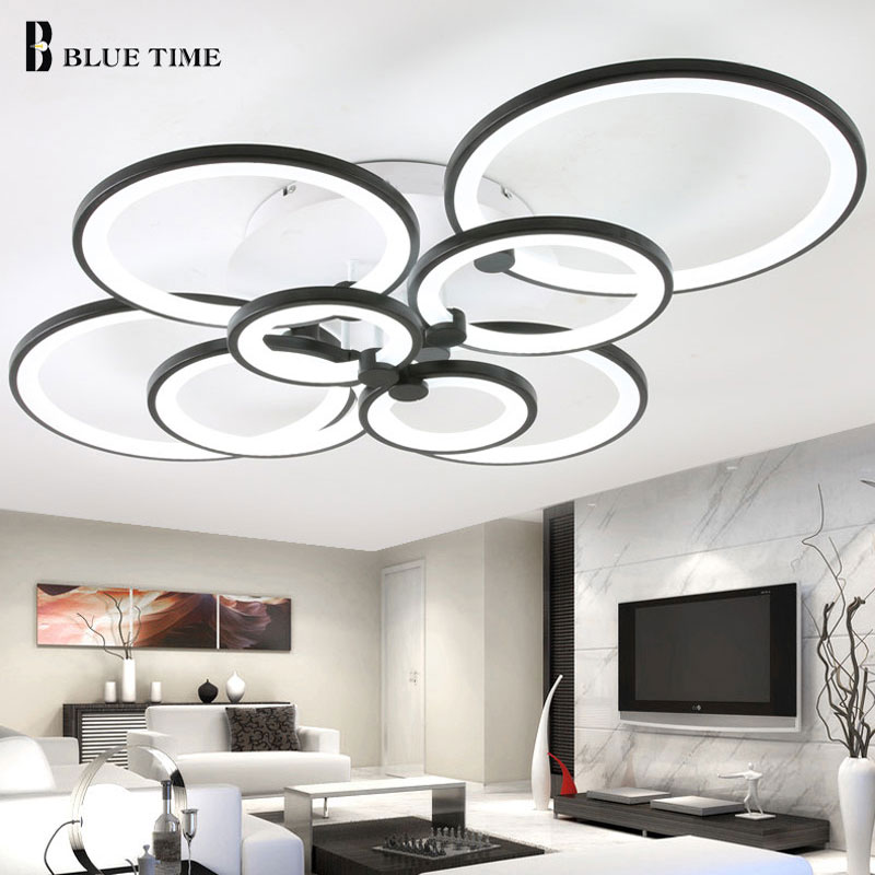 8/6/4 Rings Led Ceiling Light Modern For Foyer Living room Bedroom Dining room Lamp Acrylic Ceiling Lamp Home Lighting Fixtures ceiling lighting minimalist modern balcony study bedroom lighting led intelligent atmospheric living room dining room
