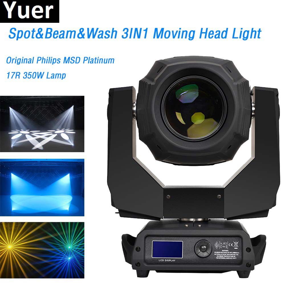 17R 350W moving head Wash Beam Spot 3in1 Clay Paky disco light color gobo wheel rotating prism Moving Head Stage Lights dj dmx 2pcs lot flycase 16 prism power 350w 17r moving head beam sharpy light lyre gobos lumiere dmx 17r spot stage dj party lighting