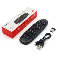 2.4 Ghz Draadloze 6 Axis T6 Gyroscoop Air Mouse Keyboard Afstandsbediening voor PC Smart Android TV Box/OTG telefoon Tablet