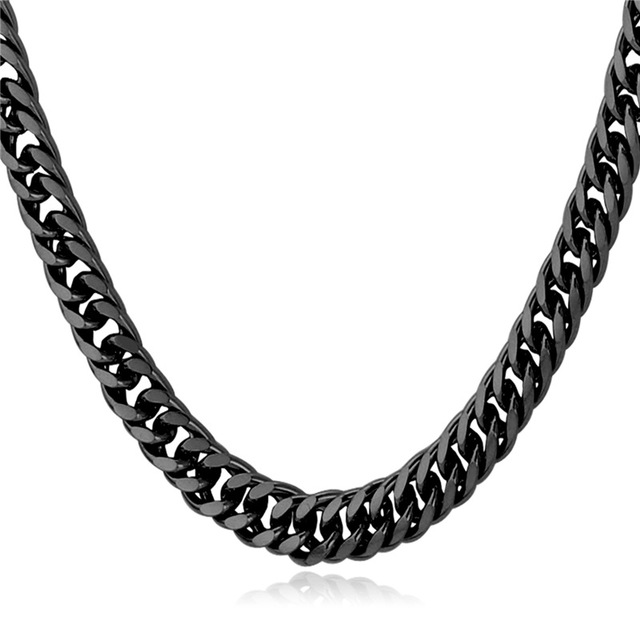 Ethiopian Chain Men Necklace Chain Stainless Steel Gold Color New Link Chain Wholesale Trendy Special Men Jewelry Gift N106