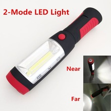 2 Modes Red Portable Lantern Emergency LED COB Camping Lantern Waterproof Hand Flash Light Mini Torch Hanging Lamp With Magnets