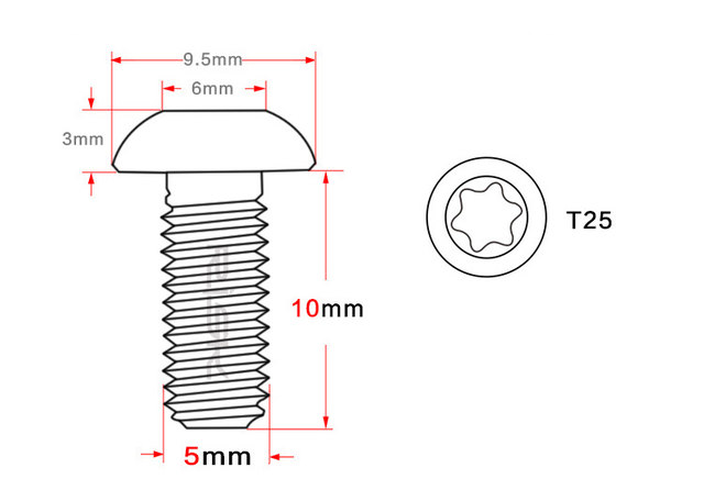 Online Shop Risk 12pcs M5 10mm T25 Ti Disc Brake Rotor Bolts For Mtb
