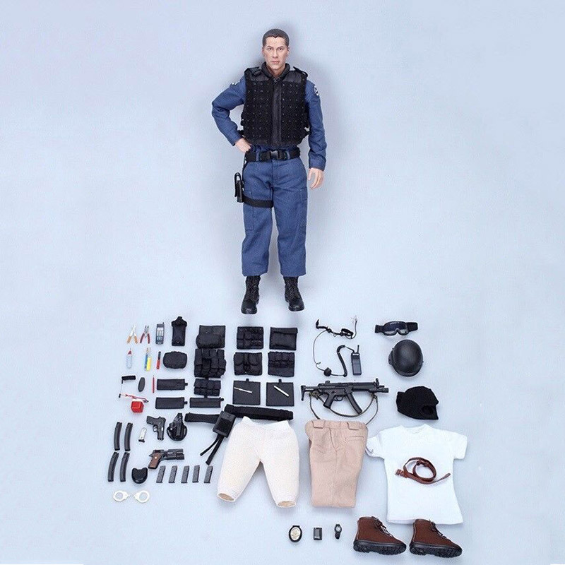 1:6 Scale Male Full Set Action Figure with Accessories US 90s LAPD SWAT Kenny Figure Model Toys With Clothes ems dhl free 2017 new lace tulle baby girls kids sleeveless party dress holiday children summer style baby dress valentine