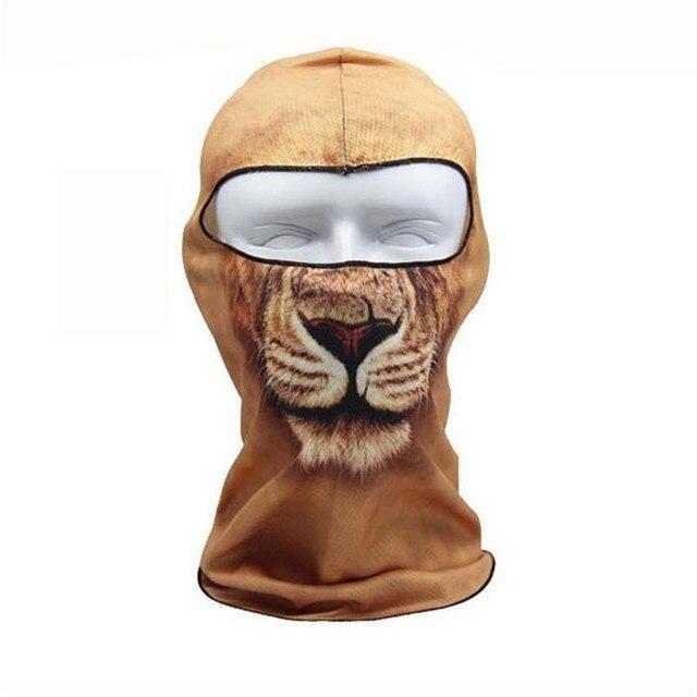 3 04 5 De Réduction Tigre Cap Chien Animal Sports De Plein Air Vélo Vélo Moto Masques Ski Capot Chapeau Veil Balaclava Uv Plein Visage Masque 3d