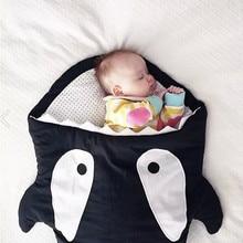 2017 Kids Sleeping Bags Pillow Cartoon Shark Sleeping Bags Newborn Baby Carriage Winter Bedding Warm Sleep Sacks Cotton Soft