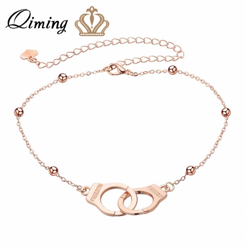 Handcuffs Anklets Beach Chain Ankle Bracelet Fashion Feet Chain for Women Girls