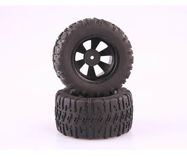 LC Racing MT Tire Set Mounted 12mm EMB-MT EP 1:14 RC Car Truck Off Road #L6061