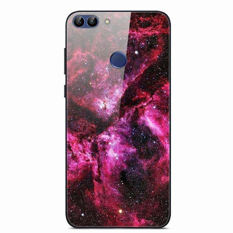 Чехол s для huawei P Smart 2018 чехол жесткое стекло закаленное задняя крышка чехол для телефона для huawei P Smart Cover FIG-LX1 Enjoy 7S Чехол