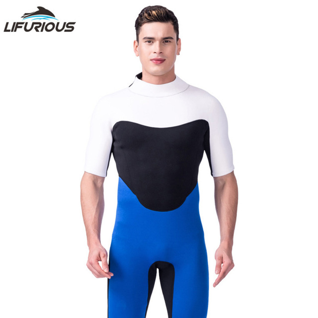LIFURIOUS Sports Free Diving Wetsuit Neoprene Short for Men Swimsuit Swimwear Beach Clothes Breathable Soft patchwork wetsuits