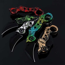 New Arrival Outdoor Camping Karambit Folding Pocket Claw Knife Outdoor Survival Defense Tools Colorful Jungle Hand