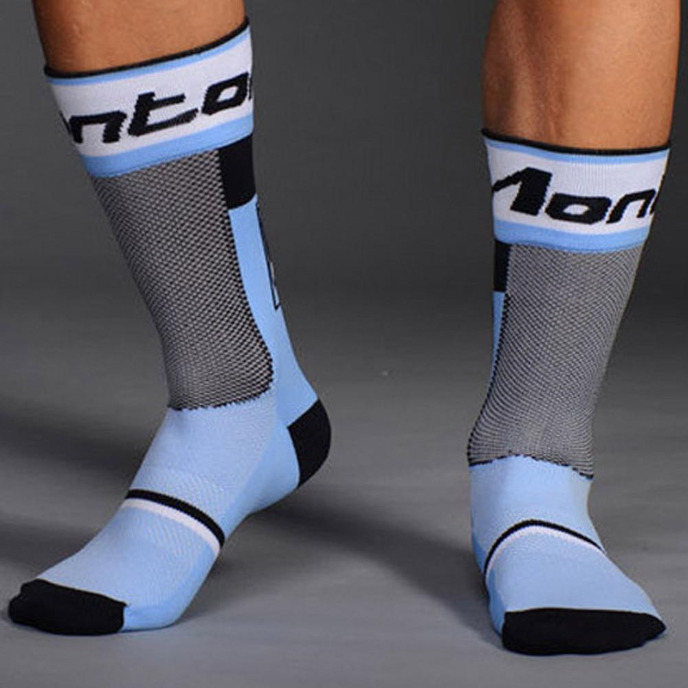4 colors 1 Pair Pro Mens Socks Breathable Bicycle Socks