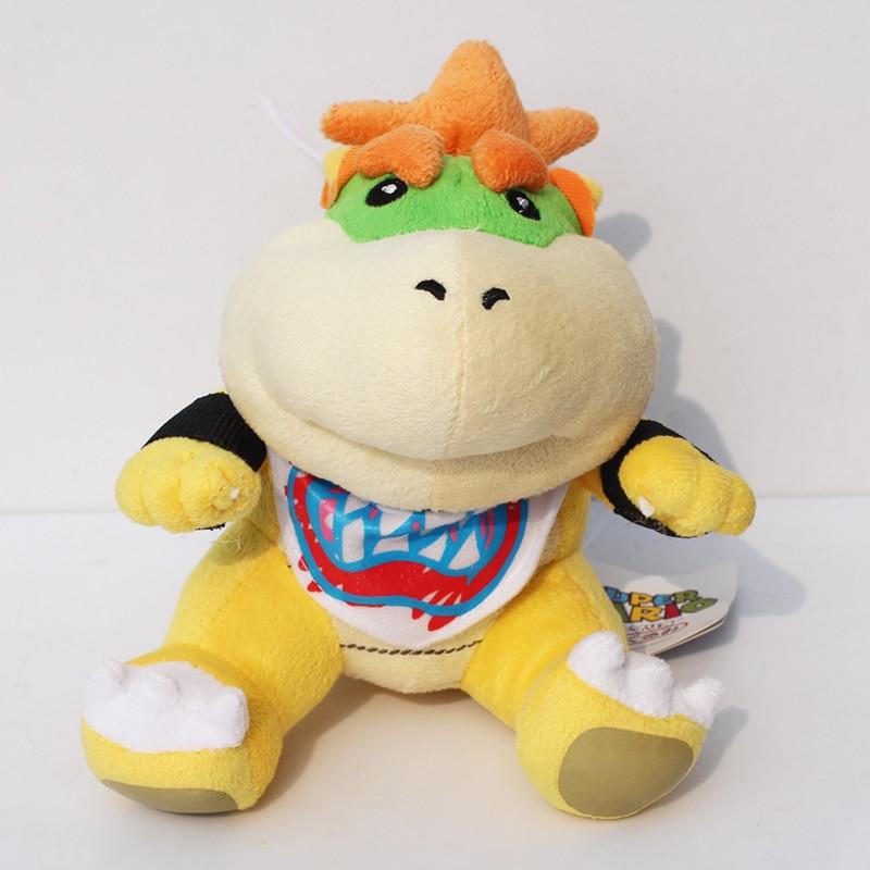 "Super Mario bros plush toys 6"" Koopa Bowser baby dragon plush doll Brothers Bowser JR soft Plush(China)"
