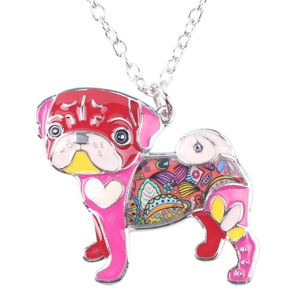 Pug Nose Dog - Fashion Jewelry Enamel Necklace 4