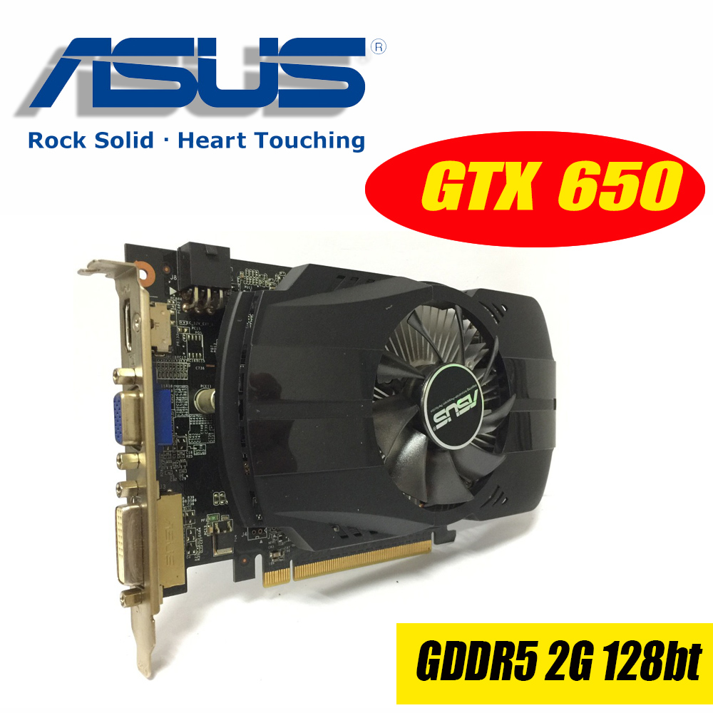 Asus GTX-650-FMLII-2GD5-V5 GTX650 GTX 650 2G D5 DDR5 128 Bit PC Desktop Graphics Cards PCI Express 3.0 computer Graphics Cards