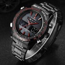 NAVIFORCE męskie zegarki Top marka luksusowy zegarek kwarcowy na co dzień człowiek wodoodporny wojskowy mężczyzna godzina ze stali nierdzewnej Relogio Masculino