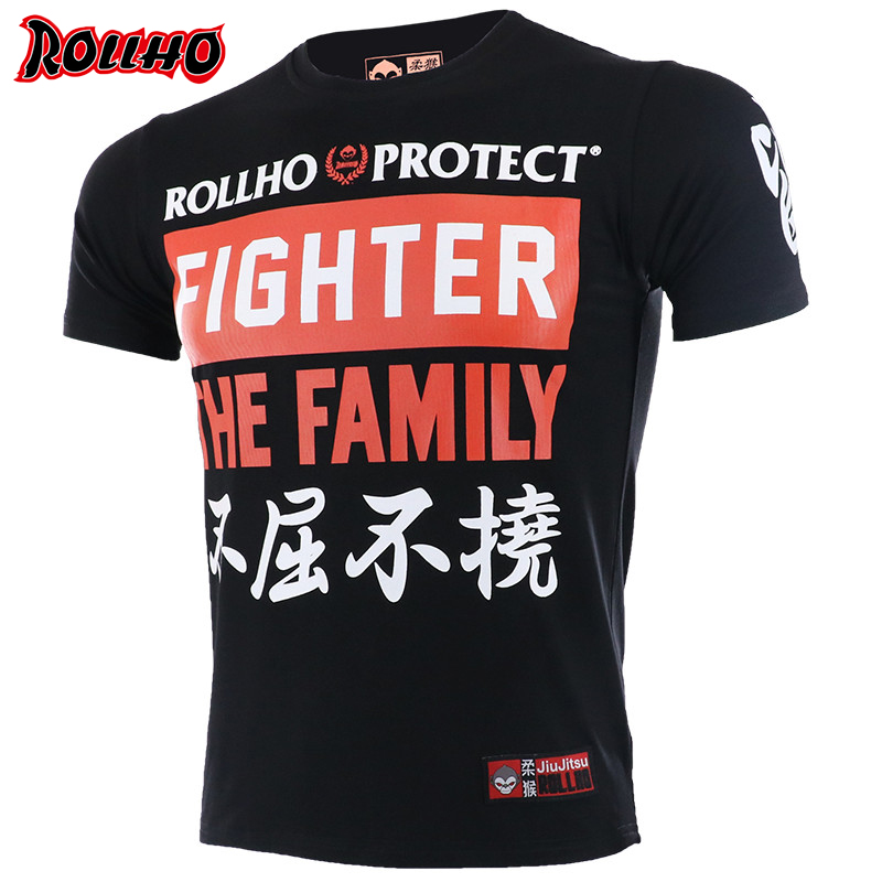 Boxing MMA T Shirt Gym Tee Shirt Fighting Martial Arts Fitness Training Muay Thai Monkey  T Shirt  Homme Short Sleeve