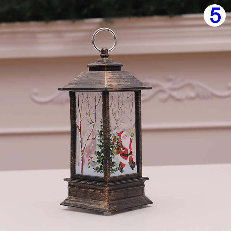 Christmas Candlestick Lantern Light Candle Holder Lamp Bulb Home Party Decor MDJ998