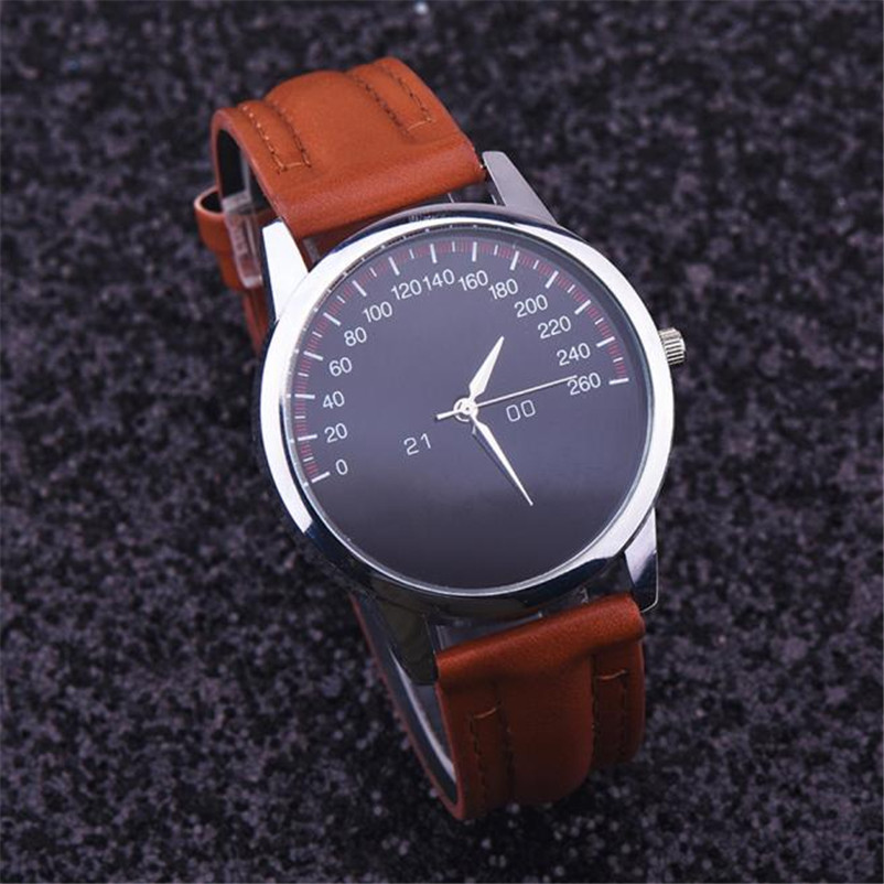 Watch Men Watches Top Brand Luxury Relogio Masculino Montre Homme 2017 Quartz Famous Faux Leather Male Clock DropShipping