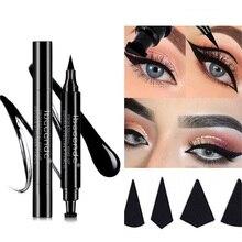 Quente 4 estilos delineador selo lápis preto líquido maquiagem à prova dlong água de longa duração olho forro asa selos delinador