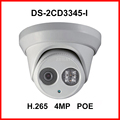 DS-2CD3345-I 4MP IR Network Dome IP Security CCTV POE Camera H.265 IPC Dot IR 30M Night Vision Surveillance Digital Webcam 1080P